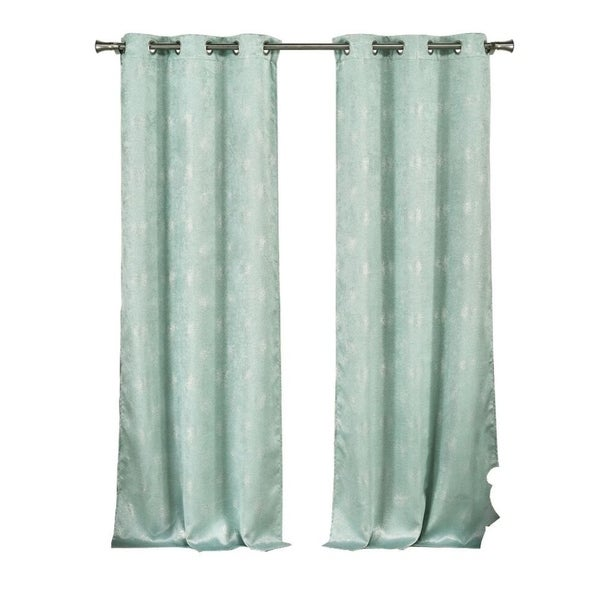 Metallic Clarice Blackout Grommet Curtain Panel Pair