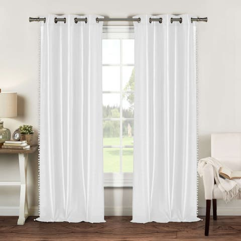 Duck River Bali Pom Pom Trim Curtain Panel Pair