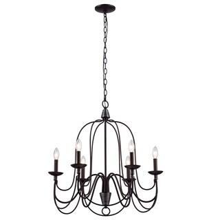 Y-Decor Blakely 6 light chandelier in Matte Black