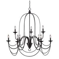 Y-Decor Blakely 9 light chandelier in Matte Black