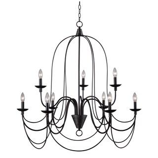 Y-Decor Blakely 9 light chandelier in Matte Black