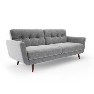 Aeon Furniture Modern Tufted Linen Nancy Convertible Sofa