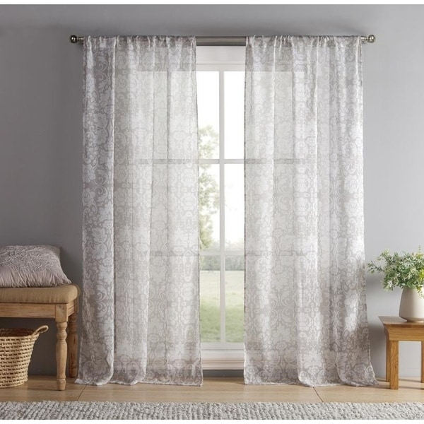 """Duck River Jessica Pole Top Curtain Panel Pair - 38x96"""""""