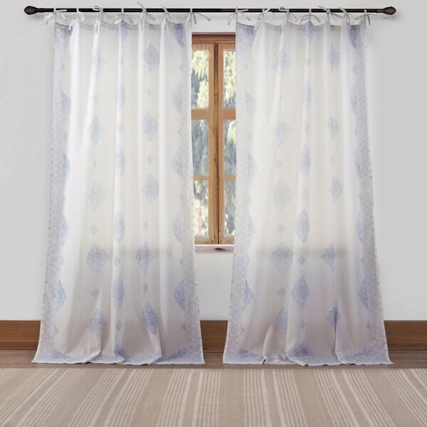 "Duck River Jaya Tie Top 42X84"" Pole Top Curtain Panel"