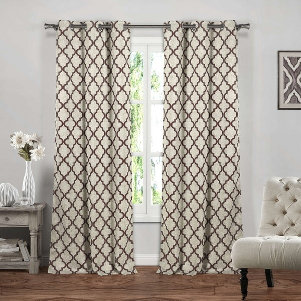 Duck River Crysteena Geometric Blackout Curtain Panel Pair