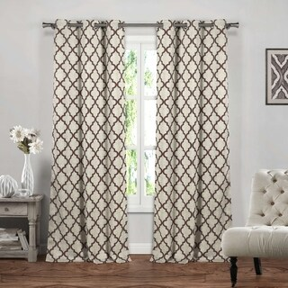 Duck River Crysteena Geometric Blackout Curtain Panel Pair