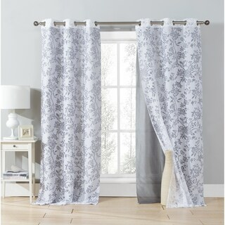 Duck River Heidilee Sheer Burnout Curtain Panel Pair