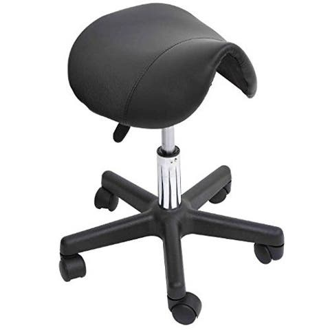 Carbon Loft Wilbur Adjustable Saddle Salon Massage Stool