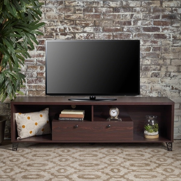 Celine Mid-Century Modern Faux Wood Entertainment Unit by Christopher Knight Home. Opens flyout.