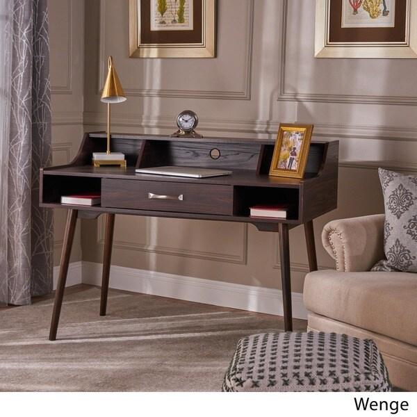 Brenda Mid Century Modern Wood Office Desk By Christopher Knight Home