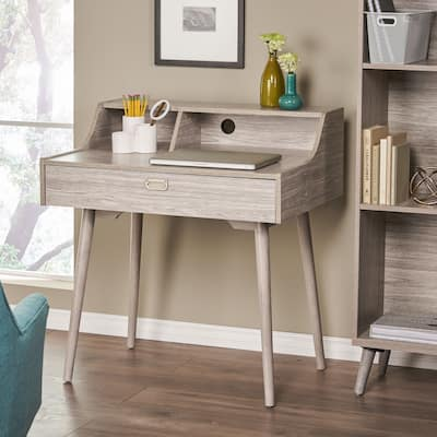 Ellison Mid Century Modern Wood Office Desk by Christopher Knight Home