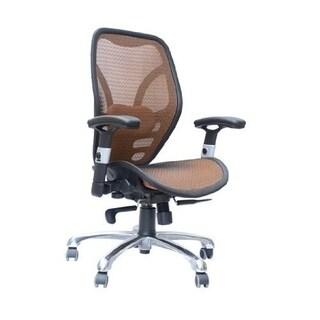 HomCom Deluxe Mesh Ergonomic Seating Office Chair - Orange