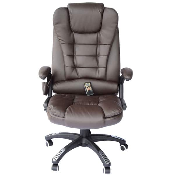 Awesome Shop Homcom Executive Ergonomic Heated Vibrating Massage Creativecarmelina Interior Chair Design Creativecarmelinacom