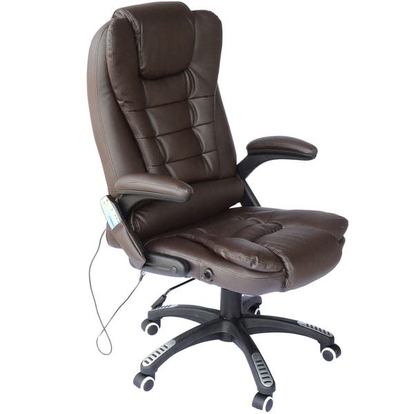 Astounding Shop Homcom Executive Ergonomic Heated Vibrating Massage Creativecarmelina Interior Chair Design Creativecarmelinacom