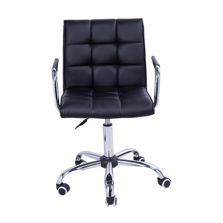Awesome Homcom Black Executive Office Computer Dining Chair Midback Modern Pu Leather Spiritservingveterans Wood Chair Design Ideas Spiritservingveteransorg
