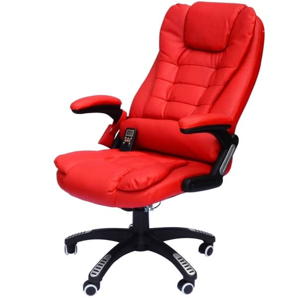 Prime Shop Homcom High Back Executive Ergonomic Pu Leather Heated Bralicious Painted Fabric Chair Ideas Braliciousco