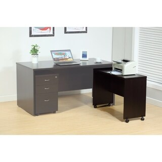 Stylish Dark Brown Finish Return With Spacious Display Top.