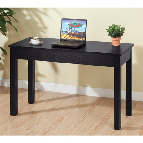 Studious Minimalistic Desk With One Drawer, Black