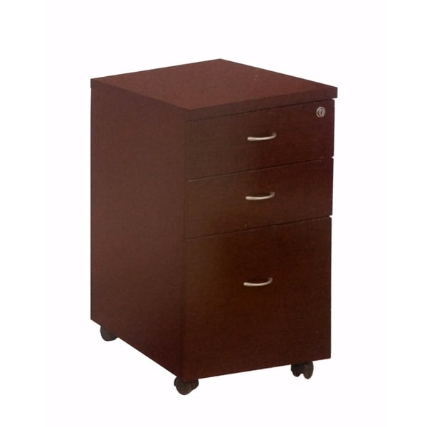Shop Spacious Brown Finish File Cabinet With Locking