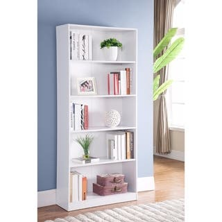 Minimalistic Yet Stylish Bookcase, White|https://ak1.ostkcdn.com/images/products/18088542/P24247527.jpg?impolicy=medium