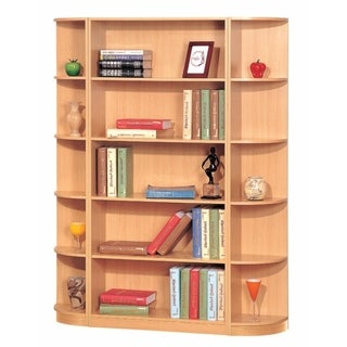 Capacious Corner Bookcase With 5 Open Shelves, Brown Finish|https://ak1.ostkcdn.com/images/products/18088556/P24247516.jpg?_ostk_perf_=percv&impolicy=medium