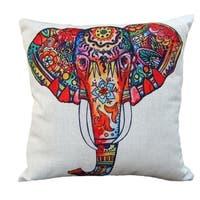 Vintage Home Decor Cotton Linen Throw Pillow Cover Creative Elephant