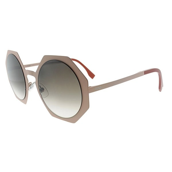 d7fb4d1a3c97 Shop Fendi Fashion FF 0152 TTM Women Pink Frame Brown Gradient Lens  Sunglasses - Free Shipping Today - Overstock.com - 18088619