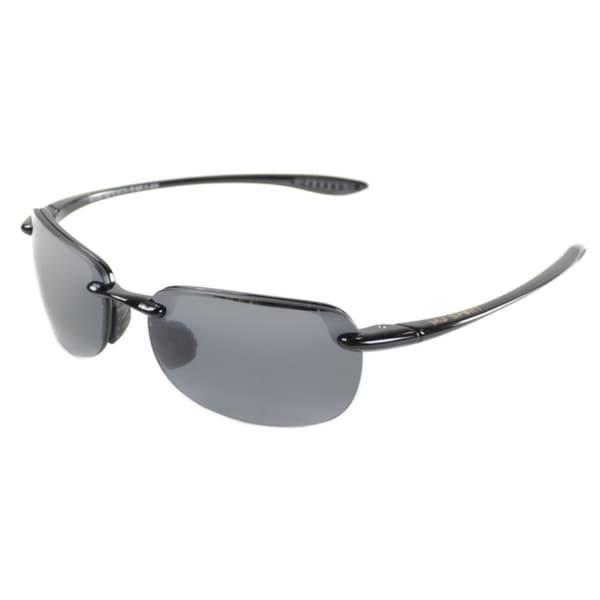 9c35ba73ce Maui Jim Unisex Sandy Beach 408 02 Gloss Black Frame Neutral Grey Polarized  Lens Rimless Sunglasses