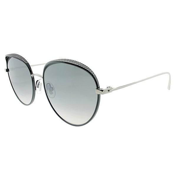 c79956f34537 Jimmy Choo Oval JC ELLO JIN Women Black palladium Frame Grey Mirror Lens  Sunglasses
