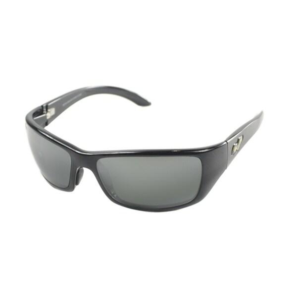 43989ba456 Maui Jim Unisex Canoes 208 02 Gloss Black Frame Neutral Grey Polarized Lens  Wrap Sunglasses