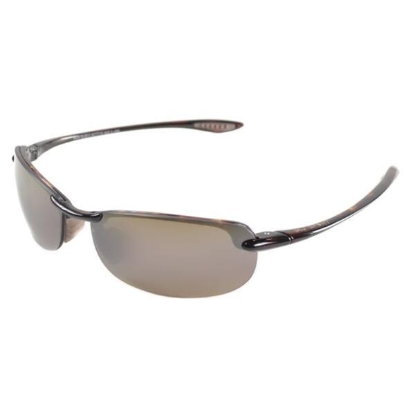 d9585449055c Maui Jim Unisex Makaha H405 10 Tortoise Frame HCL Bronze Polarized Lens  Rimless Sunglasses