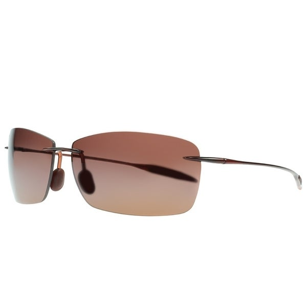 504ac9843b Maui Jim Unisex Lighthouse H423 26 Rootbeer Frame HCL Bronze Polarized Lens  Rimless Sunglasses