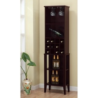 Well Designed Elegant Wine Bar With Wine Racks, Brown