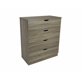 Benzara Elegant Dark-taupe Wood 4-drawer Chest with Metal Glides