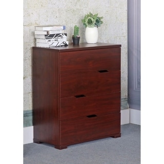 Benzara Brown Wood 4-drawer Chest