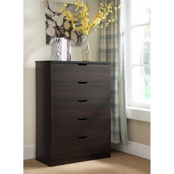 Grandiose Brown Storage Chest With Five Tier And Five Drawers.