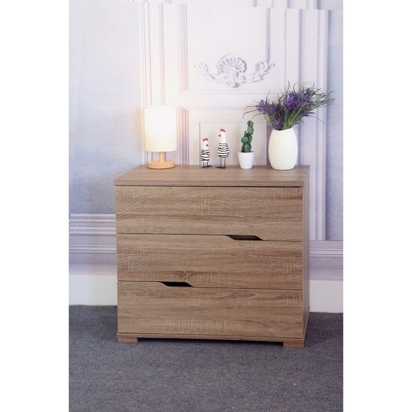 Commodious 3 Drawer Storage Chest With Metal Glides