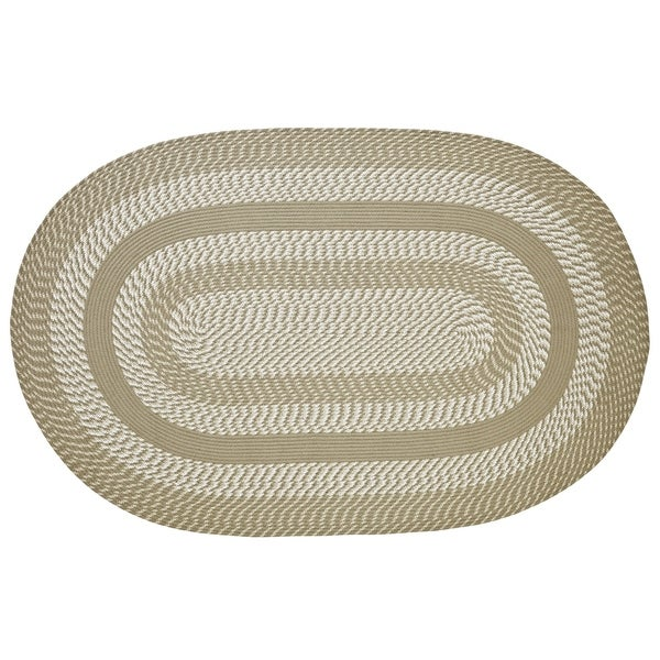 Shop Better Trends Newport Tan Braided Rug 8 X 10 Free