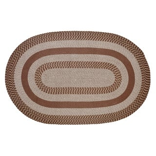 Better Trends Newport Brown Braided Round Rug (8' x 8')