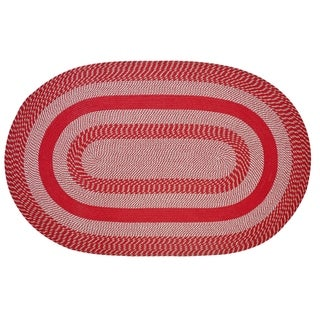 Better Trends Newport Barn Red Braided Rug - 8' x 10' Oval
