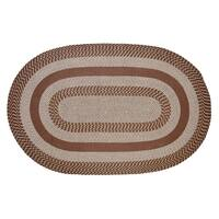 Better Trends Newport Brown Braided Rug - 8' x 10'