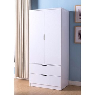 A Lavish Fabulous White Finish Two Door Wardrobe