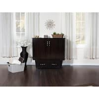 Nantucket Murphy Bed Chest Twin in Espresso with USB Charging Station