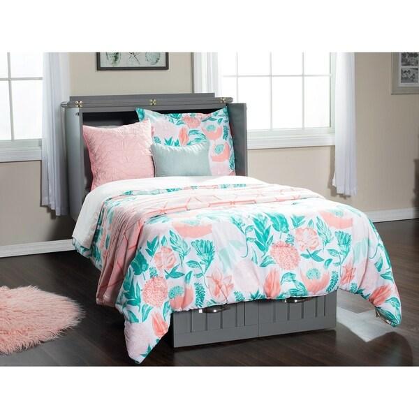 Shop Nantucket Murphy Bed Chest Twin In Atlantic Grey