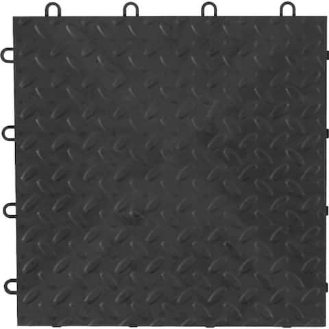 "Gladiator GarageWorks 12"" x 12"" Tile Flooring (48-pack) - 48 SQ FT, .5"" THICK"