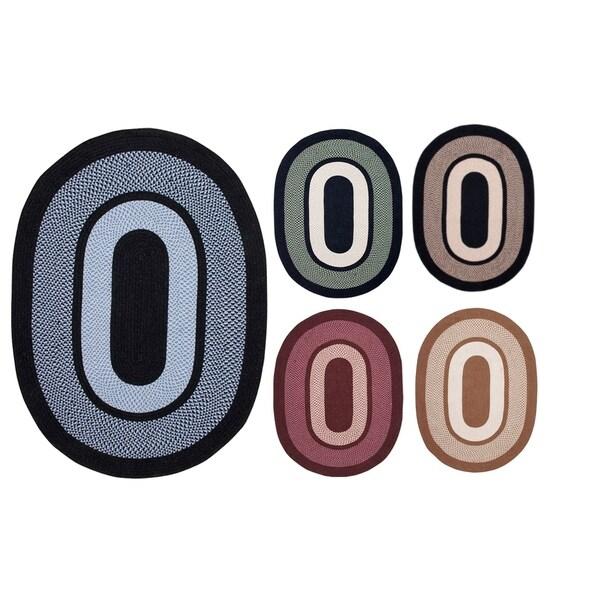 """Portland 20"""" x 30"""" Braided Oval Rug"""
