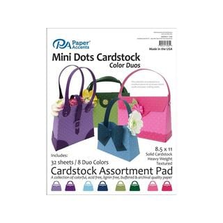 Cardstock Pad 8.5x11 32pc Mini Dots Color Duos Ast
