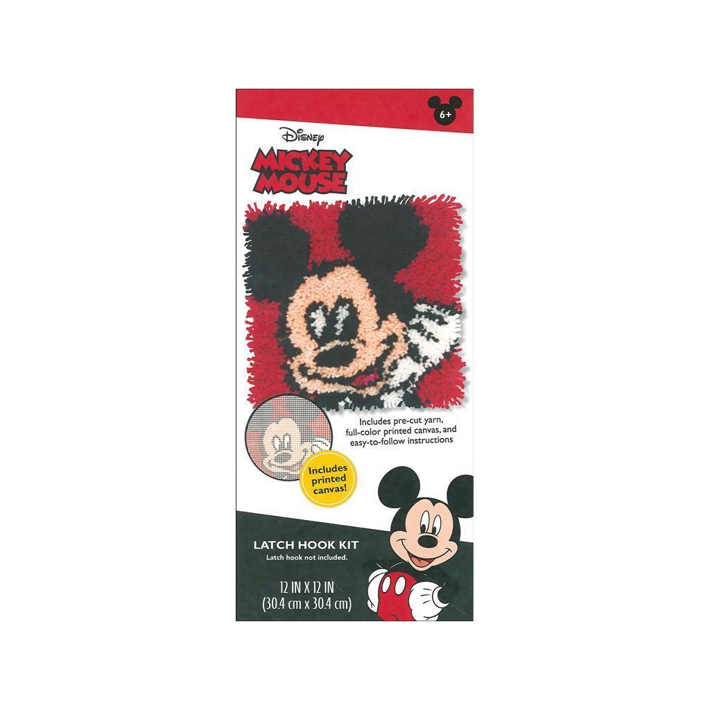 DIMENSIONS Latch Hook Kit 12x12 Disney Mickey (Other Knit...