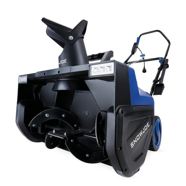Snow Joe SJ627E Electric Snow Thrower 22-Inch 15-Amp w/ Dual LED Lights - Black/Blue