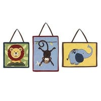 Sweet Jojo Designs Wall Hangings for the Jungle Time Collection (Set of 3)